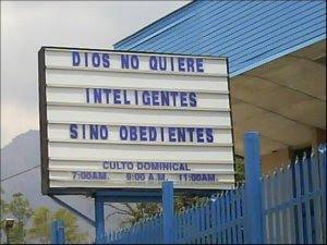 dios no quiere inteligentes