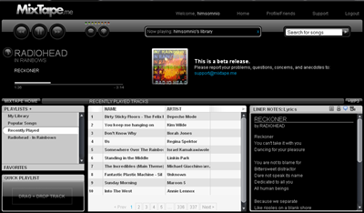 MixTape.me: otra manera de escuchar música online