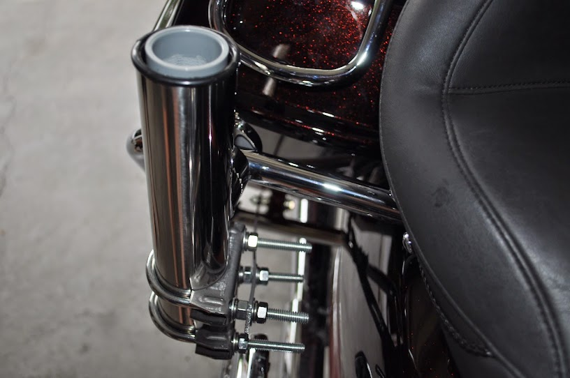 A parade flag holder for your touring bike with pics