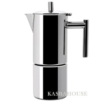 Altho Stainless Steel Stovetop Espresso Maker 6 Cup Size Made in Italy Moka Pot Best Price