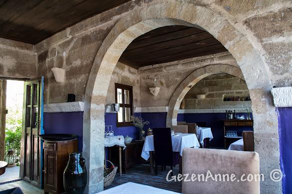 Kapadokya'da Ürgüp'teki Muti Restoran'ın ortamı