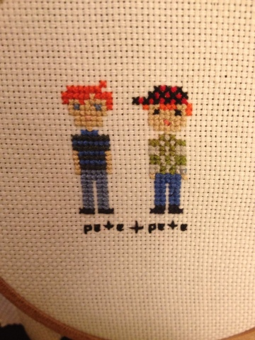 pete and pete, peteandpete, the adventures of pete and pete, cross stitch, embroidery, pollyannacowgirl, polly conway