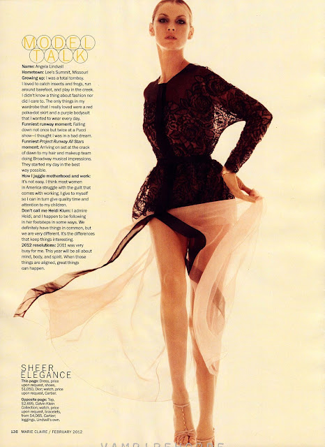US Marie Claire - February 2012 -angela lindvall