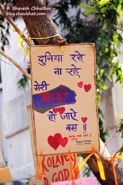 Kala Ghoda - Love message in Hindi