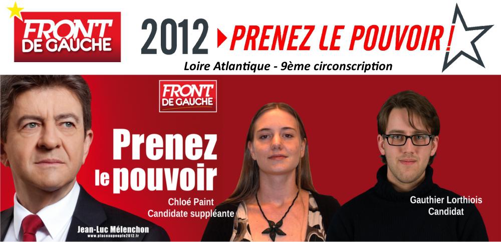 Pornic - 23/04/2012 - Législatives 2012 , réactions des candidats au 1er tour des Présidentielles avec le Front de Gauche 44