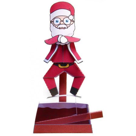 Gangnam Style Santa Papercraft