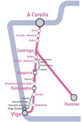 Obras del AVE del Eje Atlántico entre Santiago de Compostela y Vigo