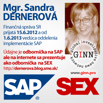 Sandra Dernerová je odborníčka na SAP alebo SEX?