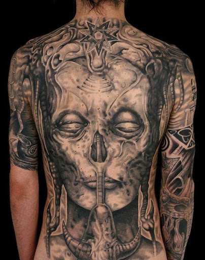 full back tattoo designs
