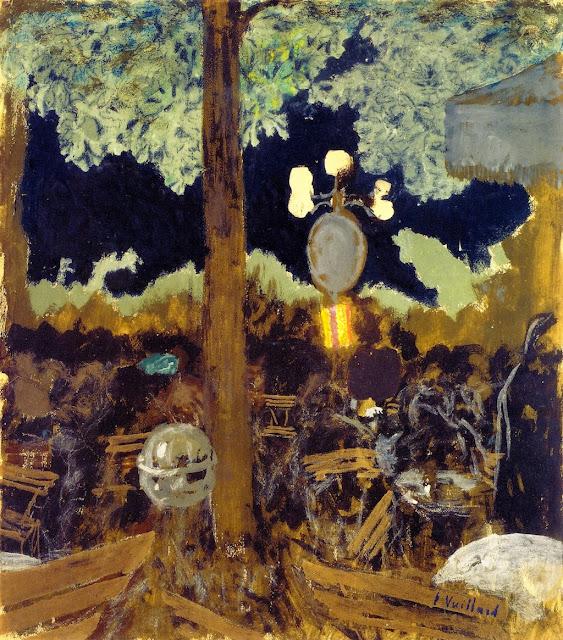 Édouard Vuillard - Café in the Bois de Boulogne at Night - The Garden of the Alcazar