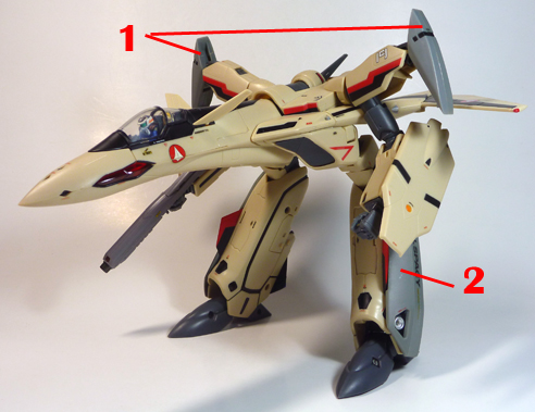 Macross Plus YF-19 with FAST Pack Armament weapon position