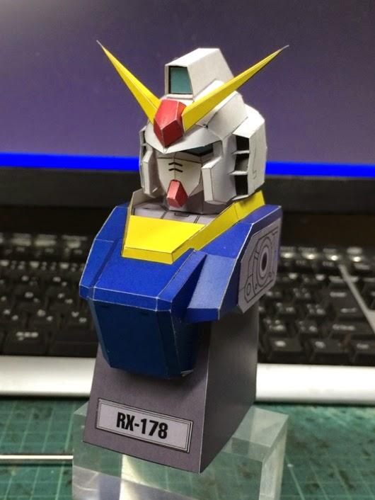 RX178 Gundam MKII Papercraft Bust