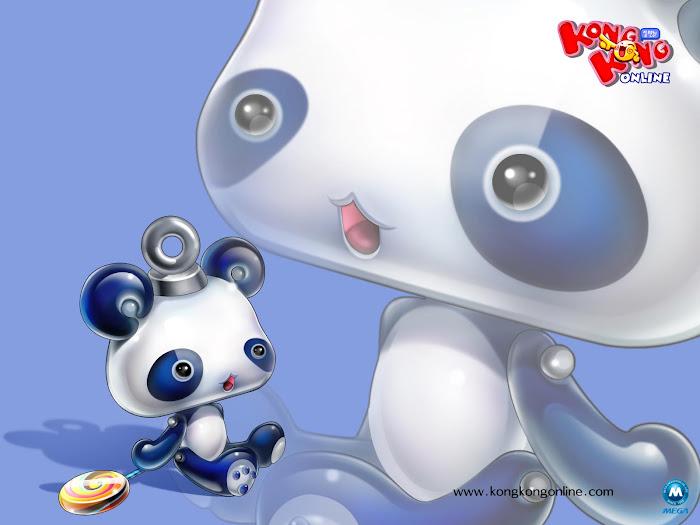 Bộ hình nền dễ thương của Kong Kong Online