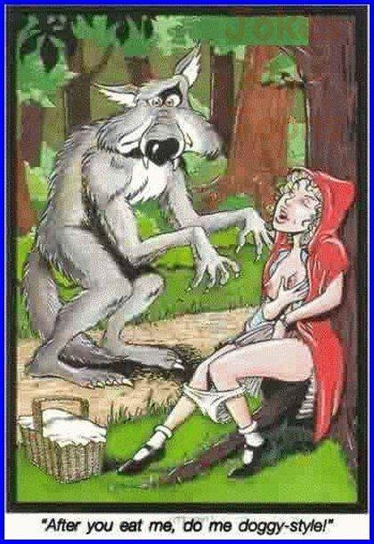 секс красной шапочки с волком фото