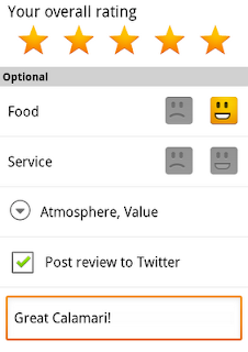 Tweet reviews of places in Google Maps on Android