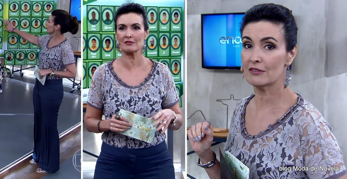 moda do programa Encontro - look da Fatima Bernrdes dia 8 de maio