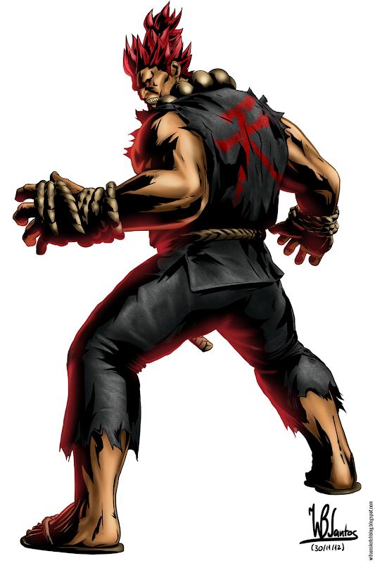 Study of the artwork from Marvel vs Capcom 3: Akuma.