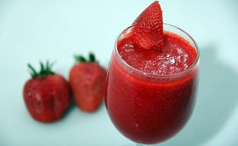 resep membuat strawberry juice