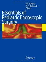 Essentials of Pediatric Endoscopic Surgery