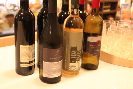 All-Ontario wine selection at media night.