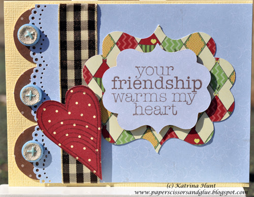 """A """"heartwarming"""" card for Friends with Flair Friday"""