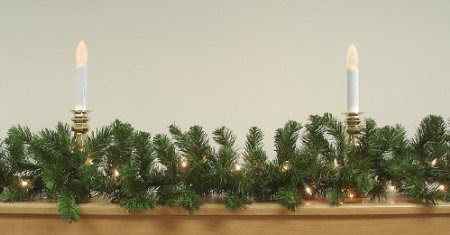 9' x 10' Pre-Lit Green Pine Artificial Christmas Garland - Clear Lights
