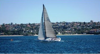 Sitting on a sailboat off Balmoral Beach in Middle Harbour