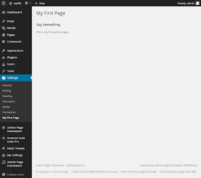 Admin Page Framework - Getting Started