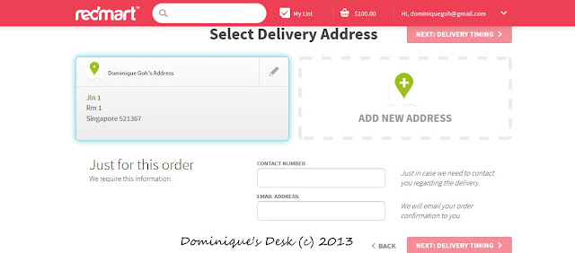 Input your delivery address