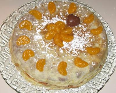 gâteau de crêpes au chocolat et à la mandarine - recette indexée dans les Desserts