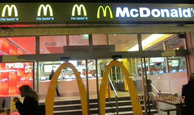 全世界各地長的都大同小異的麥當勞,這間是在蘇黎世另一個火車站外面的門市。