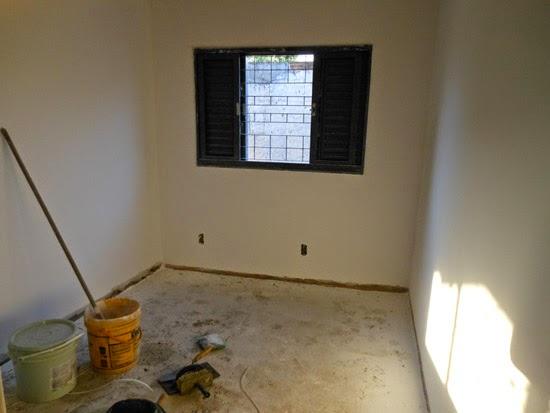 Etapas da construção do meu quarto novo