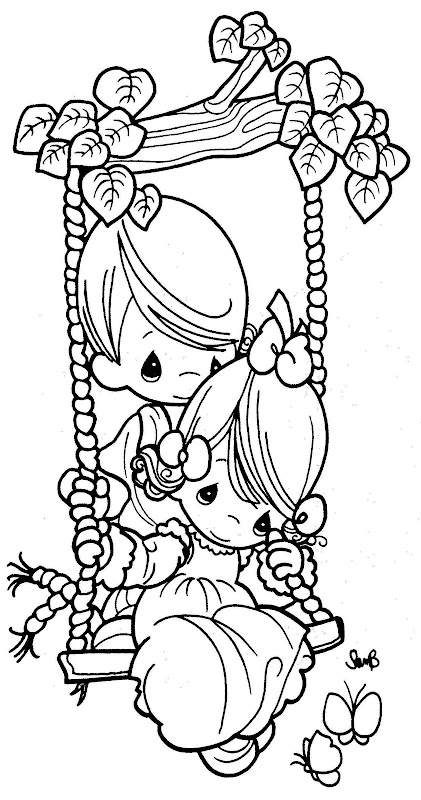 precious moments valentine coloring pages - photo#22