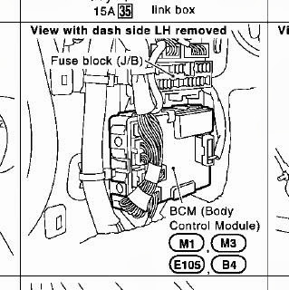Bcm on 2005 G35 Sedan Fuse Diagram