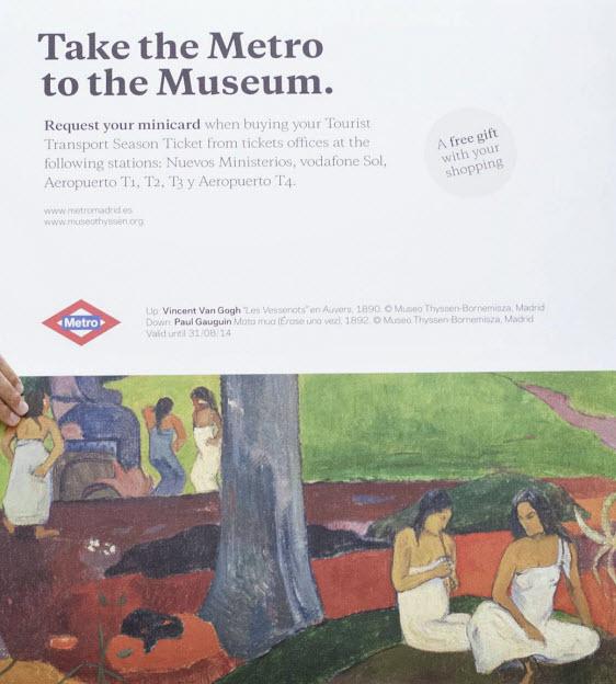 Campaña 'Ven al Museo Thyssen-Bornemisza en Metro'