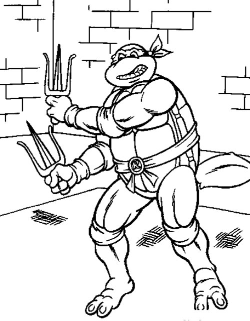 Teenage Mutant Ninja Turtles Coloring Pages - Best Coloring Pages ... | 640x500