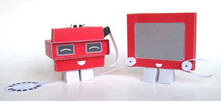 Bright Red Paper Toys 1 2