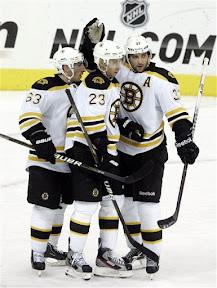 Bruins celebrate Chris Kelly's goal