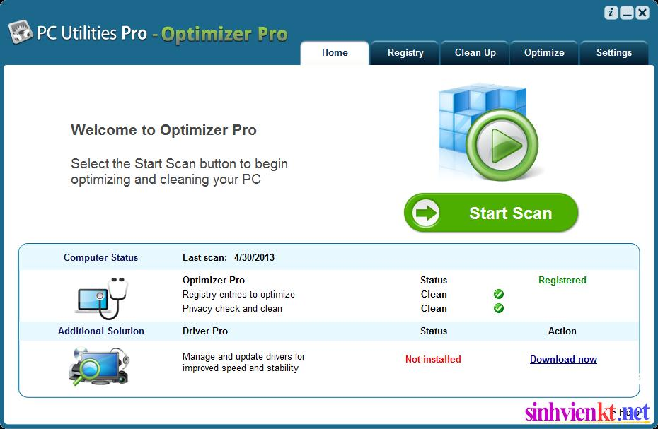 PC Utilities Pro optimizer V3.0.1.0 Name + Key, free full Version