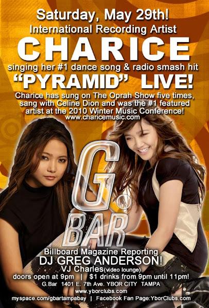 [CANCELLED] 05/29/10 - Charice Live at the G Bar - G Bar Nightclub, Ybor City, Tampa, FL L