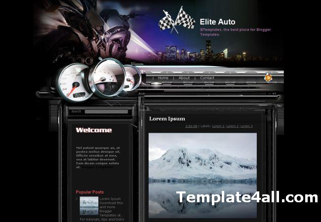 Free Abstract Auto Cars Blogger Template