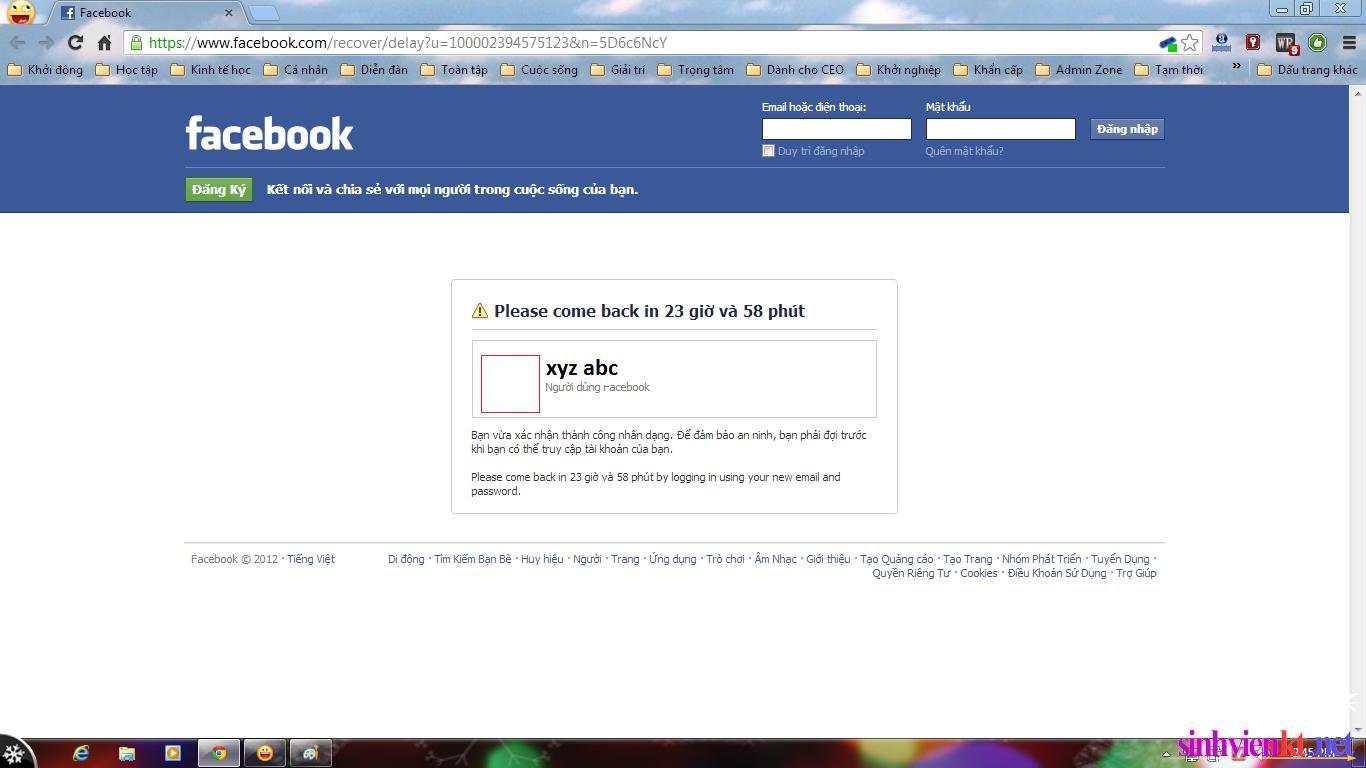 Hướng dẫn lấy lại Facebook khi bị hack tài khoản