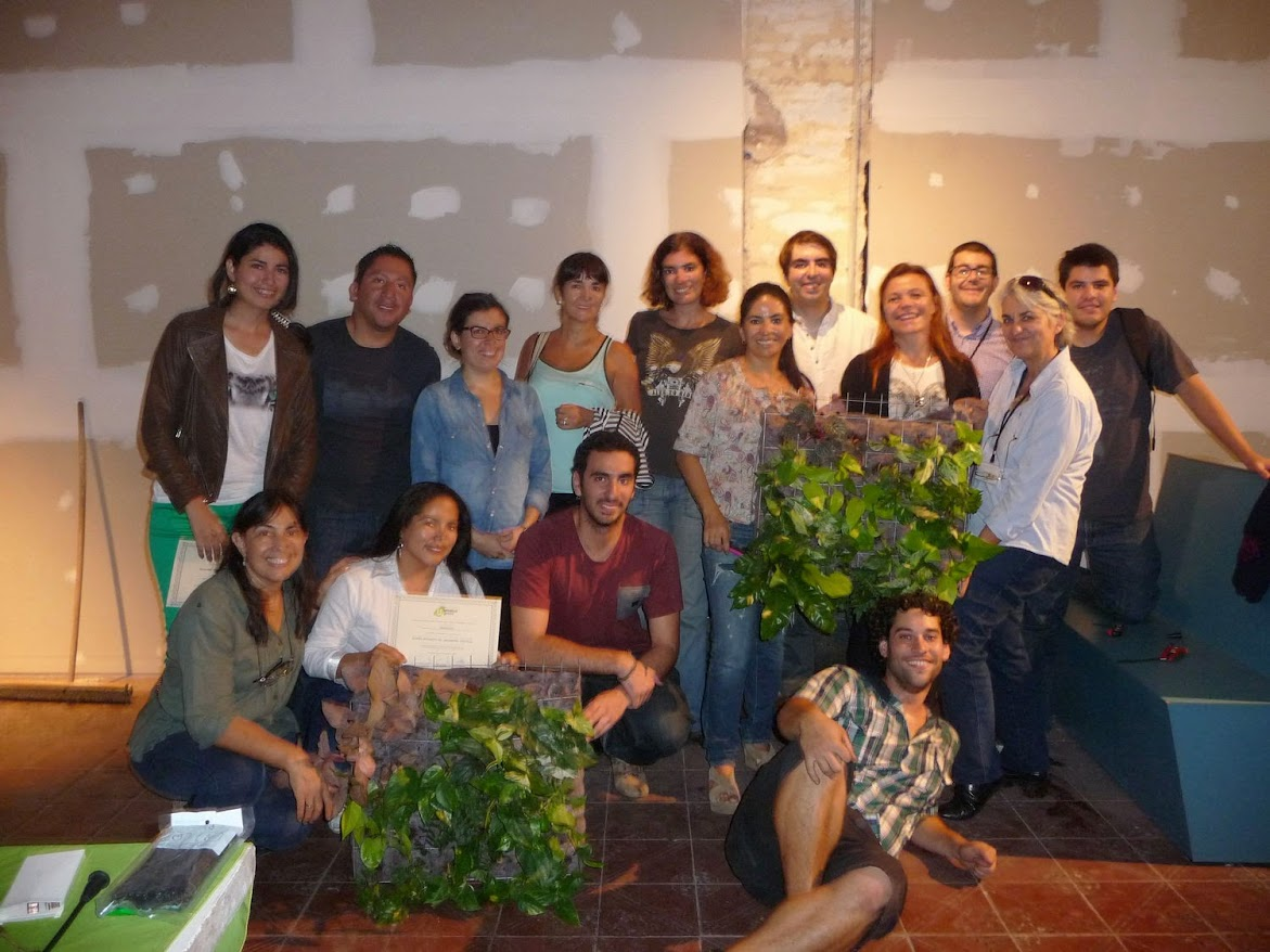 Cursos de jardines verticales de Argentina, Uruguay y Chile