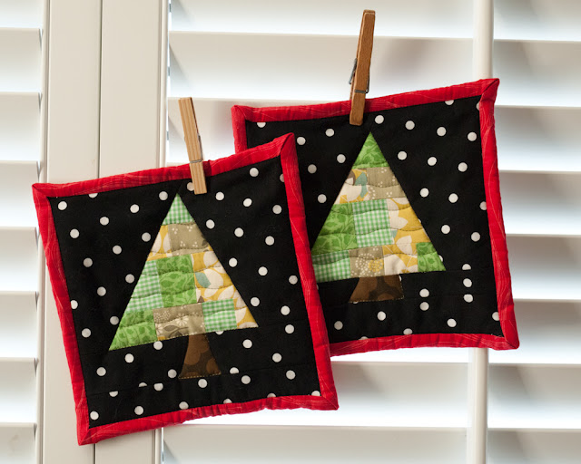 Christmas Tree Pot Holders
