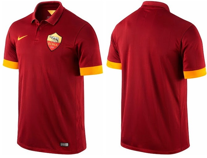 AS Roma 2014-15 Home Away Kits Released b90d76a1b