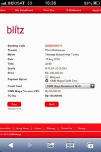 Polahku Pengalaman Beli Tiket Blitz Online Dengan Kartu Kredit