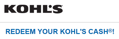 Redeem free Kohls Cash code january 2015