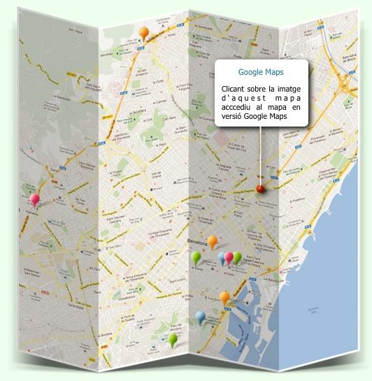 Racons de Barcelona 2 - Mapa