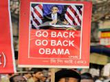 Workers and supporters of Left parties held protest marches against the visit of US president Barack Obama to India.AP Photo
