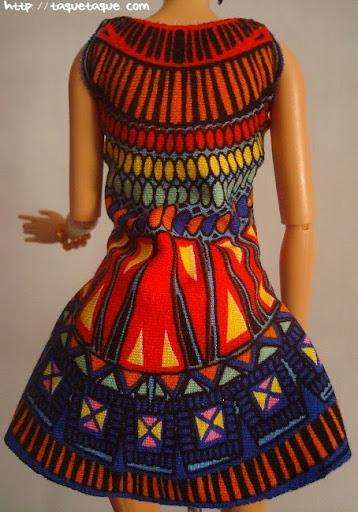 Diseños OOAK DIY by Taque-Taque para Barbie Fashionista: vista posterior del vestido